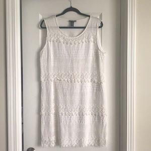 Alfani White Lace Dress